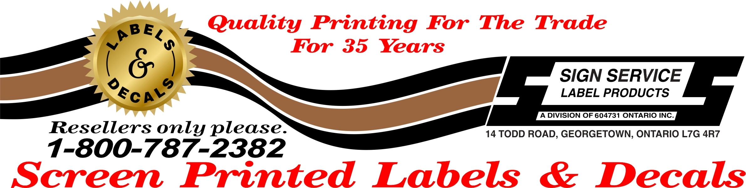 Sign Service Label Products Logo